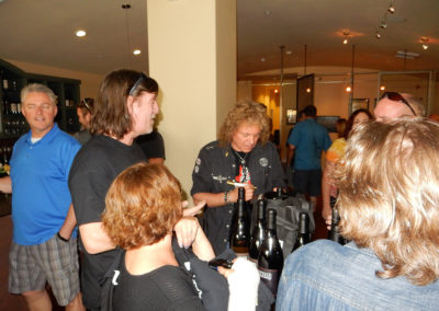 Photo of people at a wine event