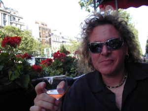 Photo of Dave with wine