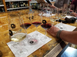 Photo of wine tasting settings in Florence
