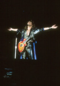 Photo of Dave onstage 1987